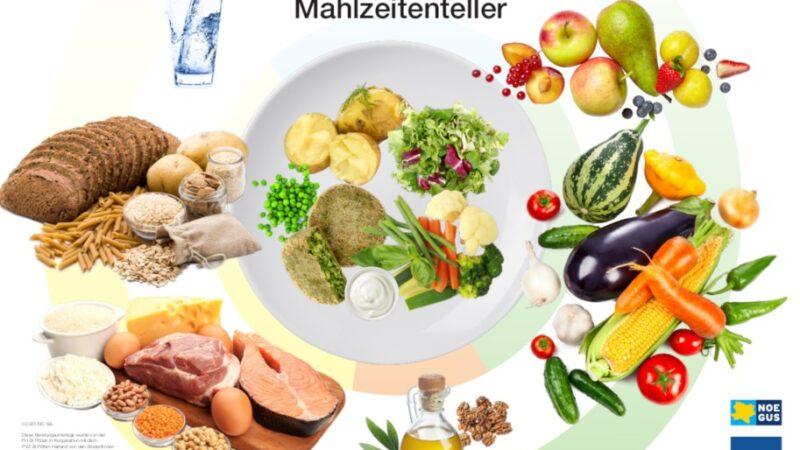 Anschauliche Unterlagen für gesunde Ernährung